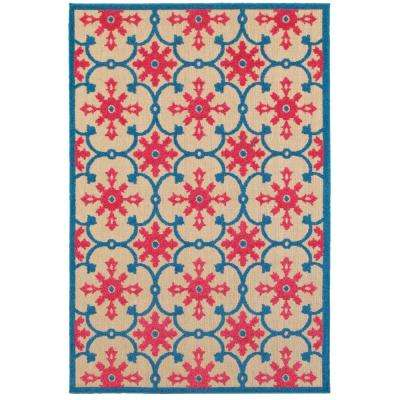 Lilo Red/Blue 5 ft. x 8 ft. Outdoor Area Rug