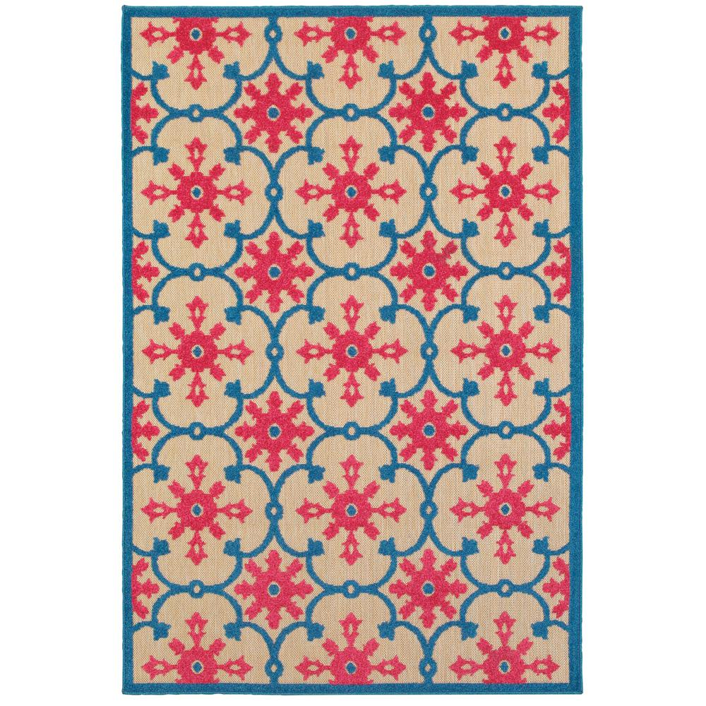 Home decorators collection lilo red blue 9 ft 10 in x 12 for Red and blue area rug