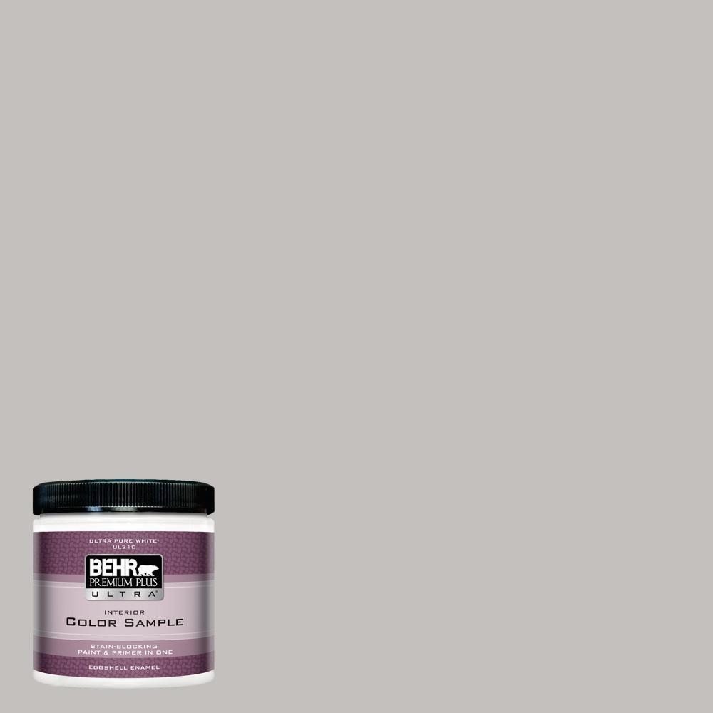 BEHR Premium Plus Ultra 8 Oz. #PPU18 10 Natural Gray Eggshell Enamel  Interior