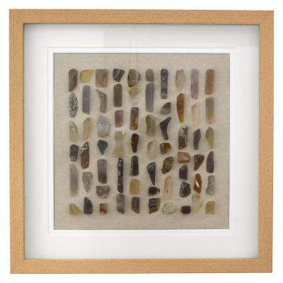 19.75 in. x 1.5 in. Framed Art with Stone Look in White