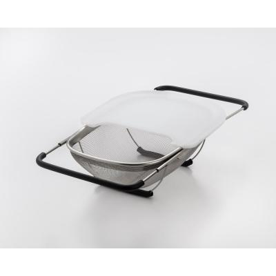 13.5 in. Over the Sink Stainless Strainer with Cutting Board