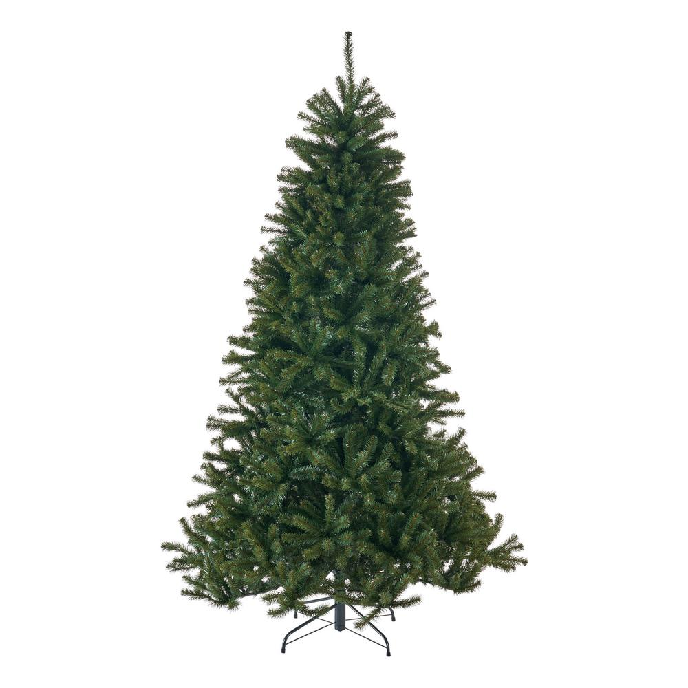 Noble Fir Christmas Tree.Noble House 7 Ft Unlit Noble Fir Hinged Artificial Christmas Tree