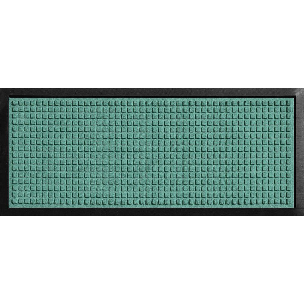 Aqua Shield Boot Tray Squares Aquamarine 15 in. x 36 in. Door Mat