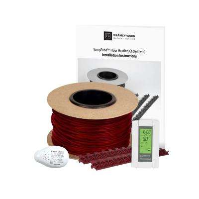 TempZone 58 sq. ft. 220 ft. Cable Kit with Strips