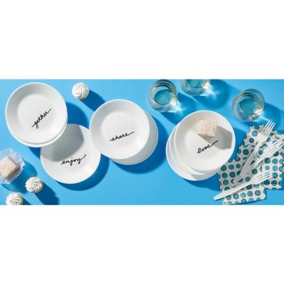 Studio 8-Piece Casual Celebrations Glass Dinnerware Set (Service for 8)