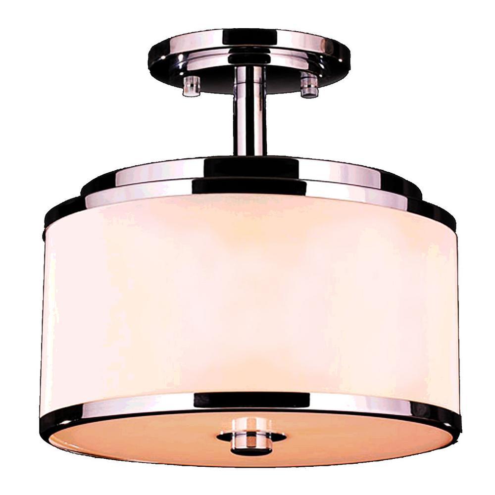 Worldwide Lighting Madeline 5Light Chrome Integrated LED Semi