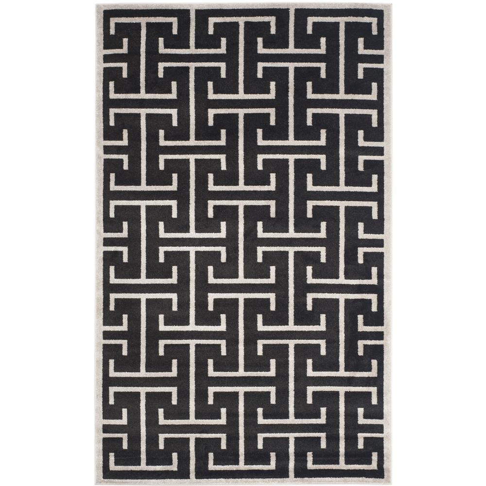 Amherst Anthracite/Light Gray 5 ft. x 8 ft. Indoor/Outdoor Area Rug