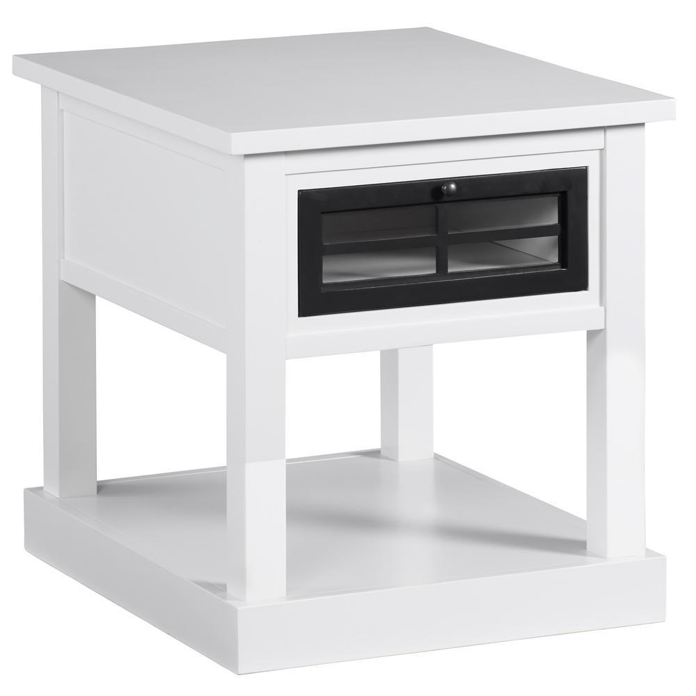 Progressive Furniture Habitat Snow Black End Table