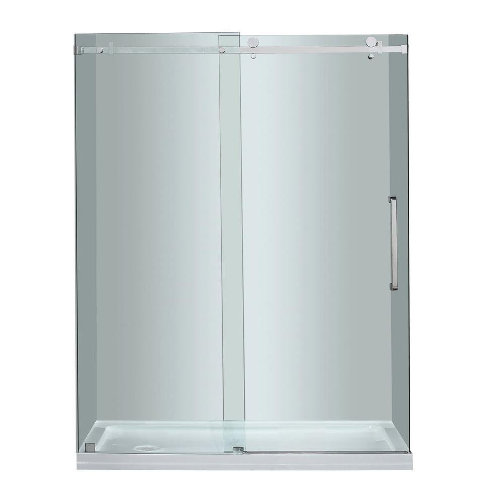 Moselle 60 in. x 77-1/2 in. Completely Frameless Sliding Shower Door