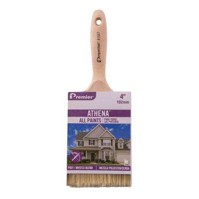Athena 4 in. Flat Polyester Bristle Blend Paint Brush (6-Pack)
