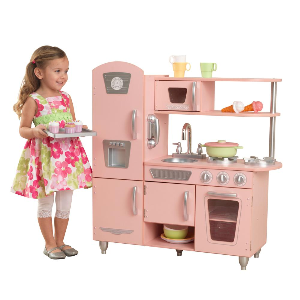 Vintage Kitchen By Kidkraft: KidKraft Pink Vintage Kitchen Playset-53179
