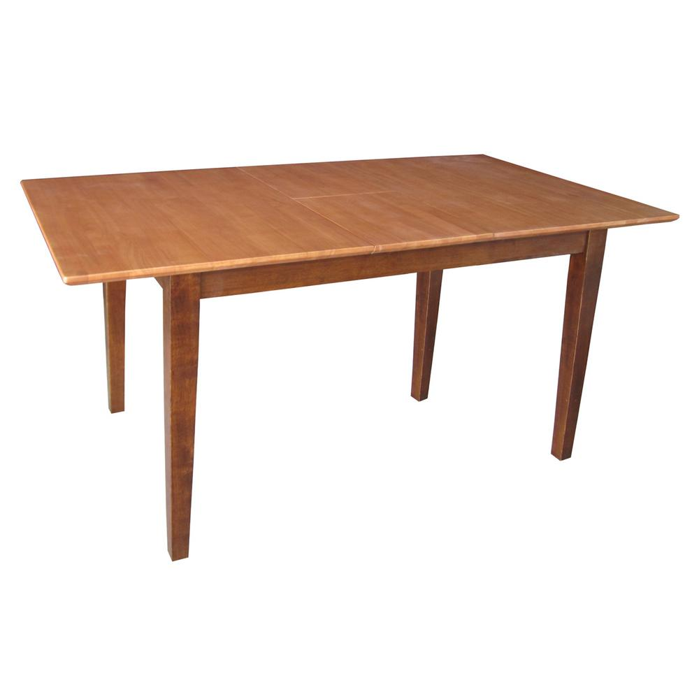 International Concepts Cinnamon And Espresso Extendable Erfly Leaf Dining Table K58 T32x 30s The Home Depot