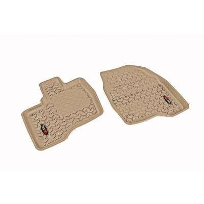 Floor Liner Front Pair Tan 2011-2014 Ford Explorer