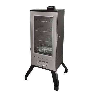 36 in. Digital Electric Smoker with Window in Stainless Steel
