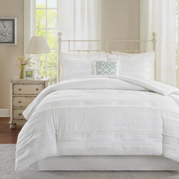 Isabella 5-Piece White California King Comforter Set