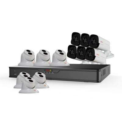 Ultra HD 16-Channel 4TB NVR Surveillance System with 12 4 Megapixel Cameras and Night Vision