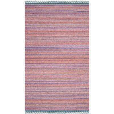 Kilim Purple/Rust 5 ft. x 8 ft. Area Rug