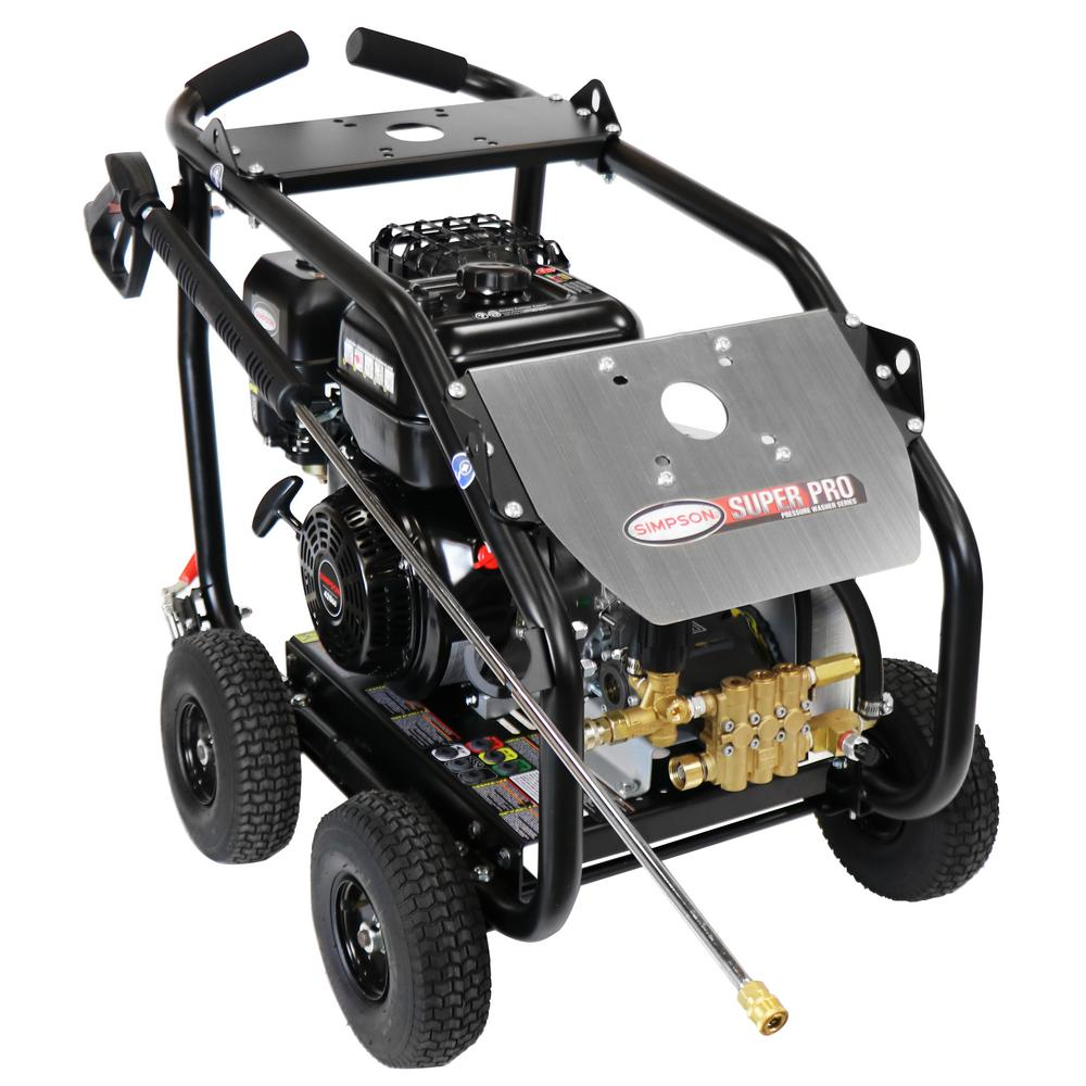 Simpson SuperPro Roll-Cage 4400 PSI at 4.0 GPM 420 cc with AAA Triplex Plunger Pump Cold Water Pressure Washer