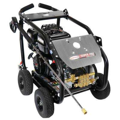 SuperPro Roll-Cage 4400 PSI at 4.0 GPM SIMPSON 420cc Cold Water Professional Belt Drive Gas Pressure Washer