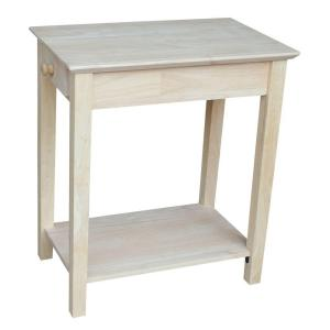International Concepts Unfinished Storage End Table by International Concepts