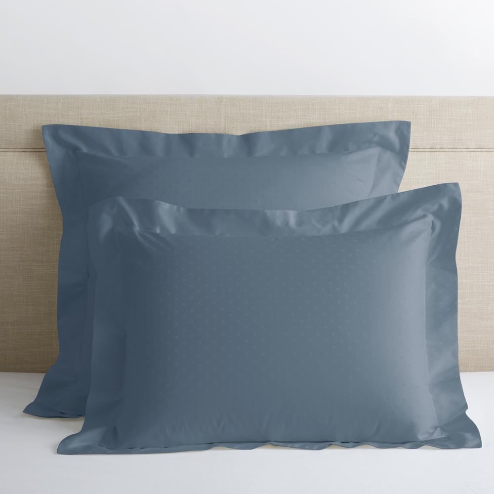 Legends Luxury Dot Mirage Blue 500-Thread Count Cotton Sateen Standard Sham
