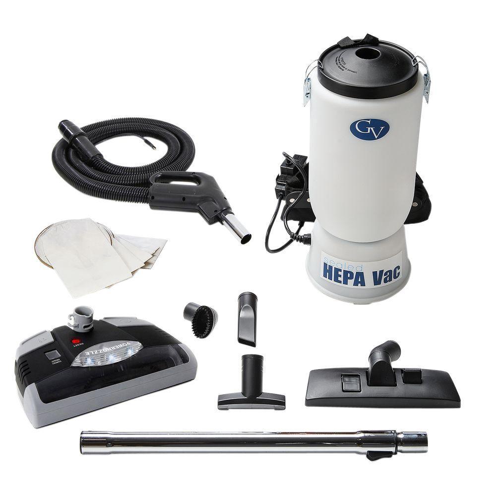 6 qt. Backpack HEPA Vacuum Cleaner with Power Head