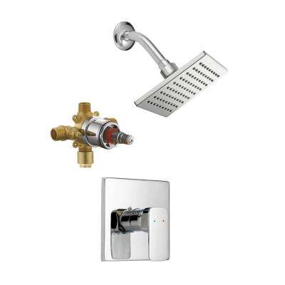 Karsen Single Handle 1-Spray Tub and Shower Faucet Trim Kit in Polished Chrome (Valve Included)