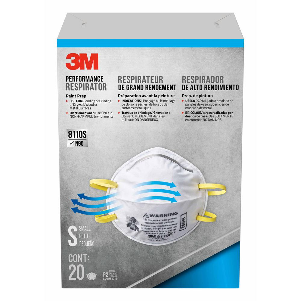 4 20-pack Respirator Painted 3m case Sanding Of N95 Masks Dust Surfaces
