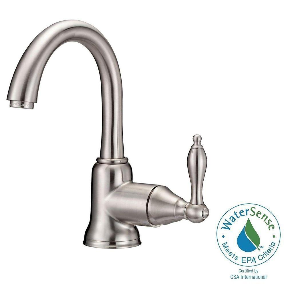 Danze Fairmont Single Hole Single-Handle High-Arc Bathroom Faucet ...