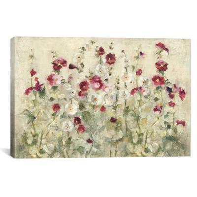 """Hollyhocks Row Cool"" by Cheri Blum Canvas Wall Art"