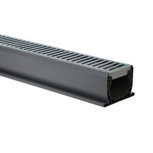 Nds 4 In X 10 Ft Speed D Channel Drain With Grate 400