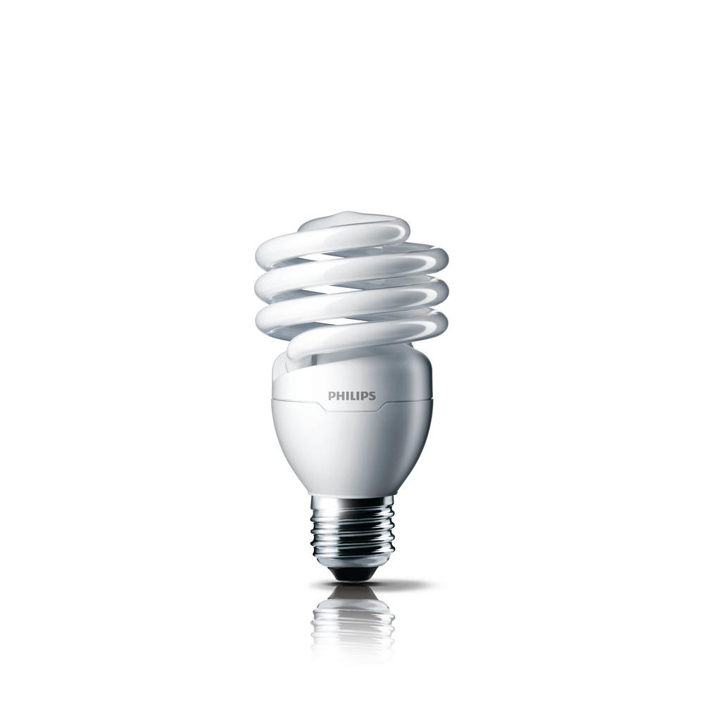 Philips 100W Equivalent Soft White T2 Spiral CFL Light Bulb (8-Pack)