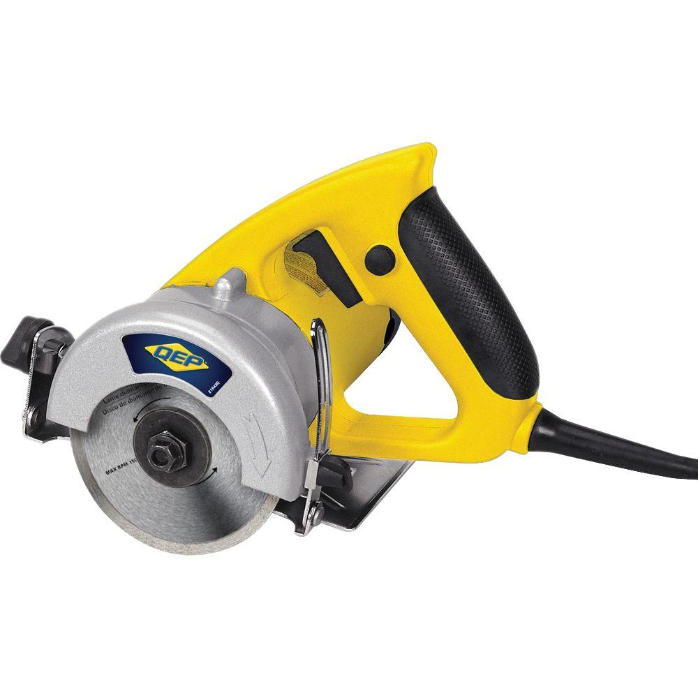 1.5 HP Professional Handheld Tile Saw with Wet/Dry 4 in. Diamond