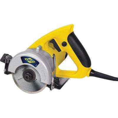 1.5 HP Professional Handheld Tile Saw with Wet/Dry 4 in. Diamond Blade and Carrying Case