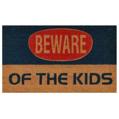 Kids Warning Door Mat 17 in. x 29 in.