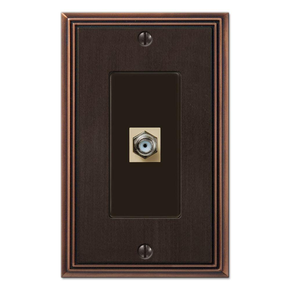 Creative Accents Metro Line 1 Video Wall Plate - Antique Bronze-DISCONTINUED