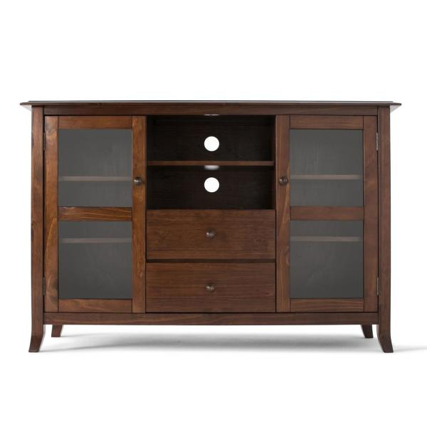 Simpli Home Artisan Solid Wood 53 in. Wide Contemporary TV Media