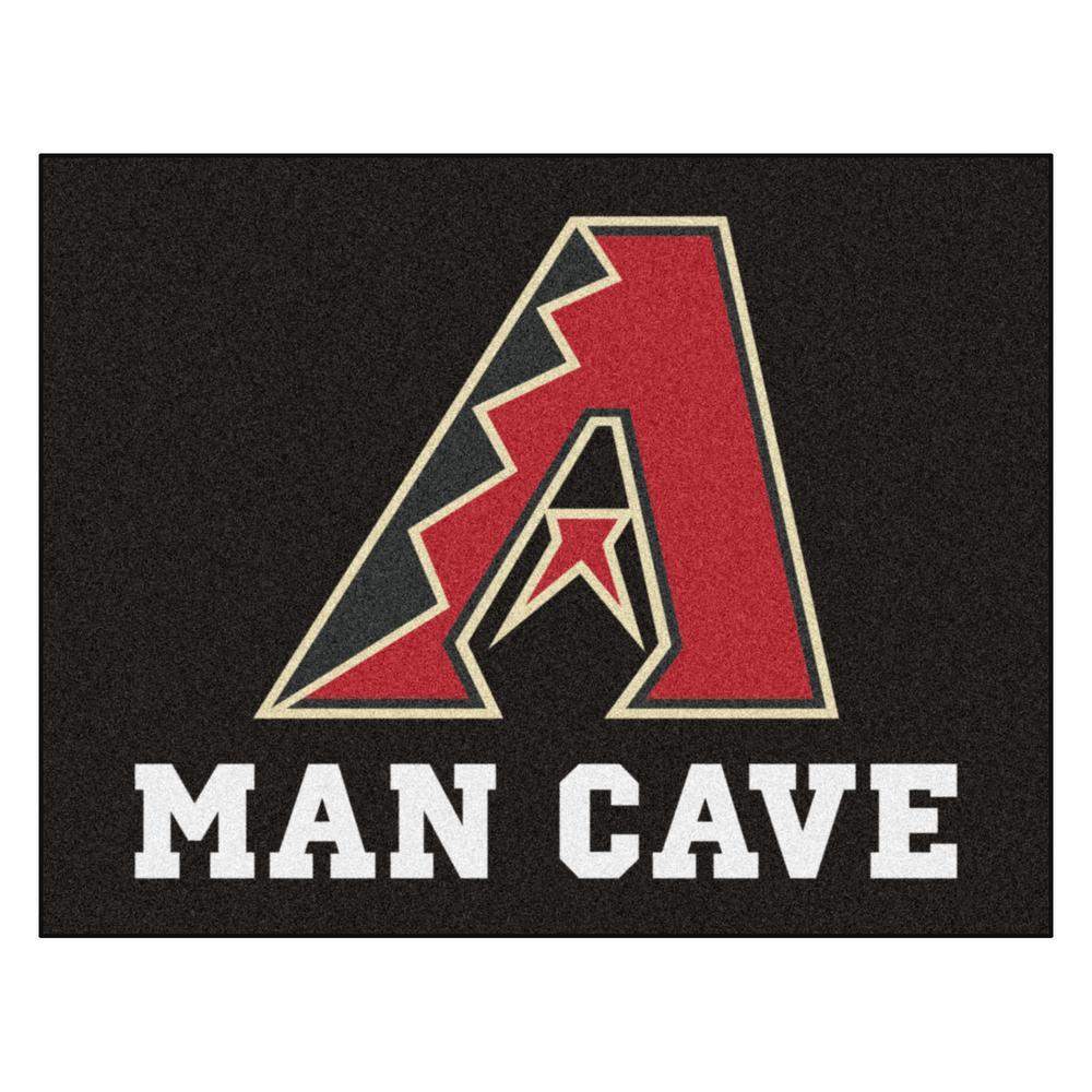 FANMATS MLB - Arizona Diamondbacks Man Cave All-Star 33.75 in. x 42.5 in. Indoor Area Rug