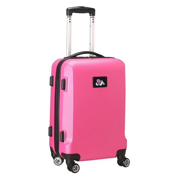 Denco NCAA Fresno State 21 in. Pink Carry-On Hardcase Spinner Suitcase