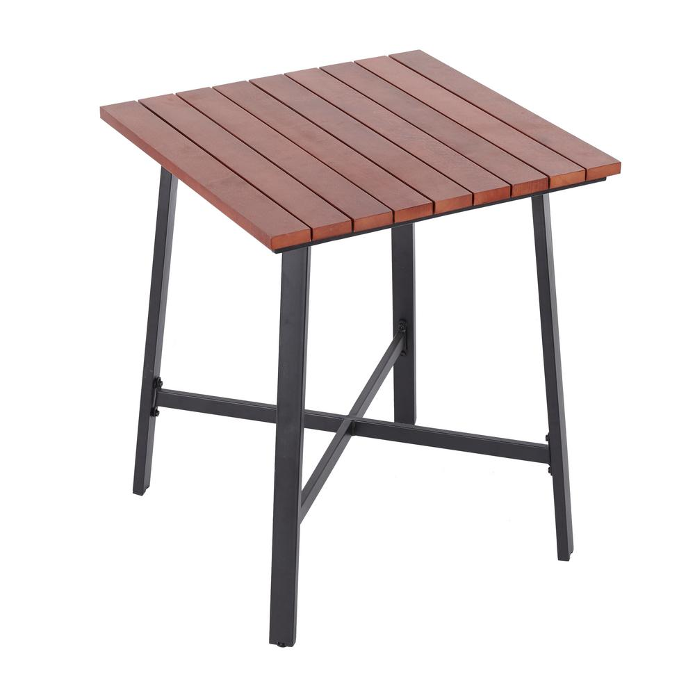 Hampton Bay Plaza Mayor Square Wood Outdoor Bistro Table