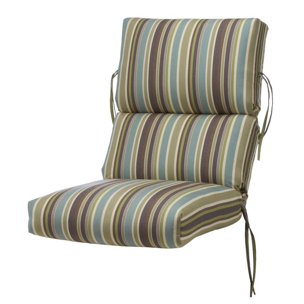 Home Decorators Collection Sunbrella Brannon Whisper Outdoor Dining Chair Cushion