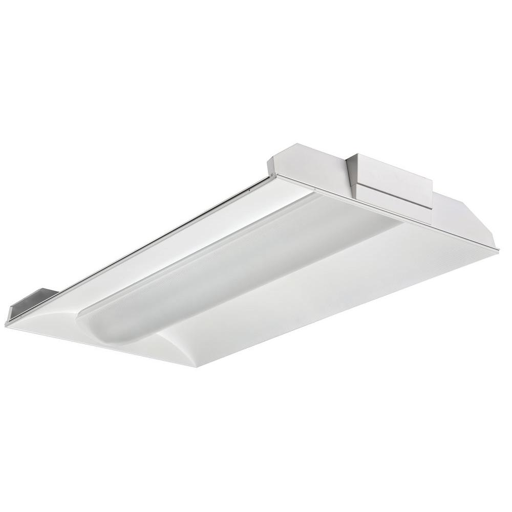 Lithonia Lighting 2 Light White Fluorescent Architectural Troffer