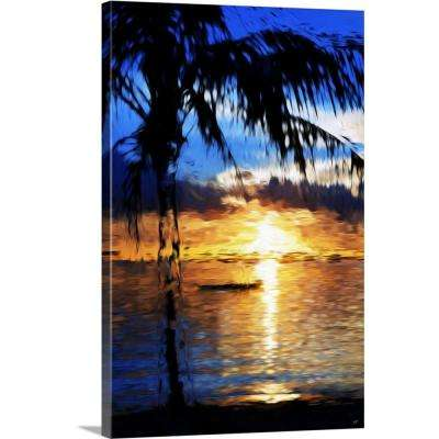 """Blue Sunset, Oil Painting Series"" by  Philippe Hugonnard Canvas Wall Art"