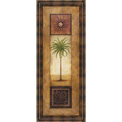"""18 in. x 42 in. """"Palm in the Sunlight"""" by Michael Marcon Framed Printed Wall Art"""
