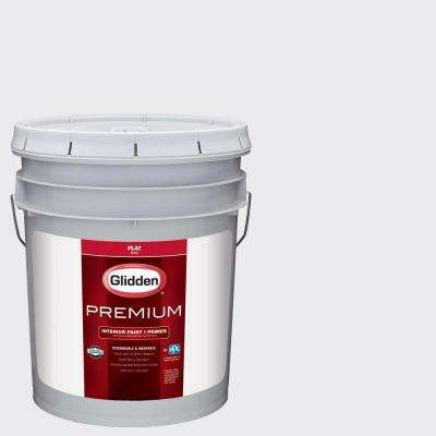 5 gal. #HDGV30U Majestic Mountain White Flat Interior Paint with Primer