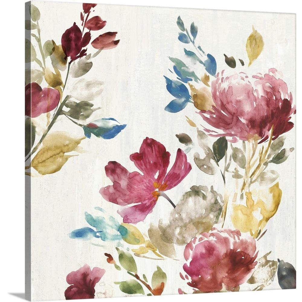 Vintage floral ii by asia jensen canvas wall art
