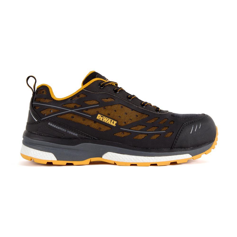 DEWALT Smithfield SD Men's Size 10(M) Black/Yellow Nylon Mesh Aluminum Toe Static Dissipative ProLite Work Shoe