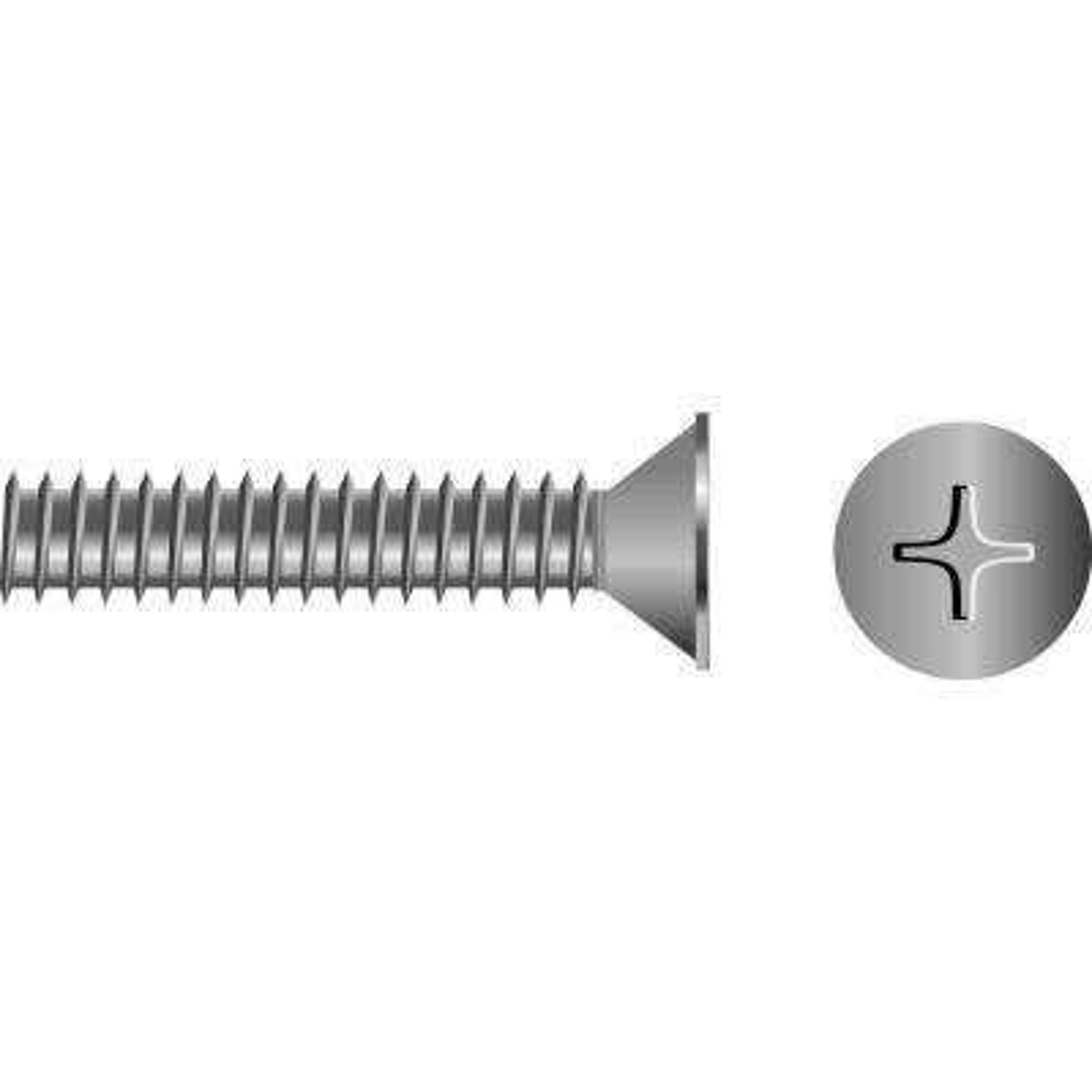 3/8 in. - 16 x 2 in. Flat Head Phillips Machine Screw (25-Piece)