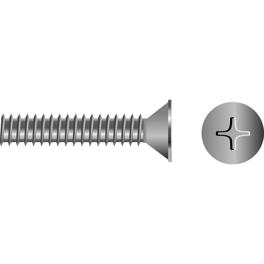 3/8 in. - 16 x 6 in. Flat Head Phillips Machine Screw (5-Piece)