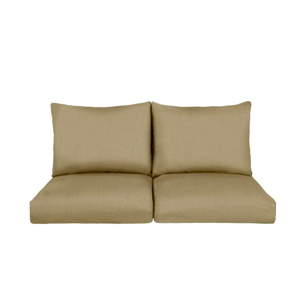 Brown jordan greystone harvest replacement outdoor sofa cushion mt005 sc2 the home depot Loveseat cushions outdoor